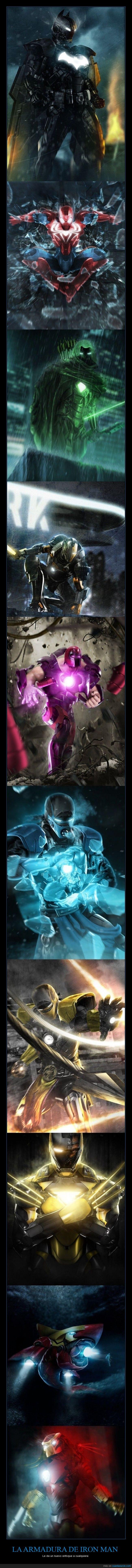 armadura,batman,creativo,futurista,iron man,lobezno,magneto,predator,scorpion,spiderman,Sub zero,super heroe,tiburon