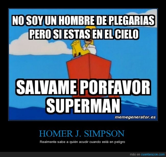 ayuda,dios,Homer,pedir,religion,Salvame,Simpson,Superman
