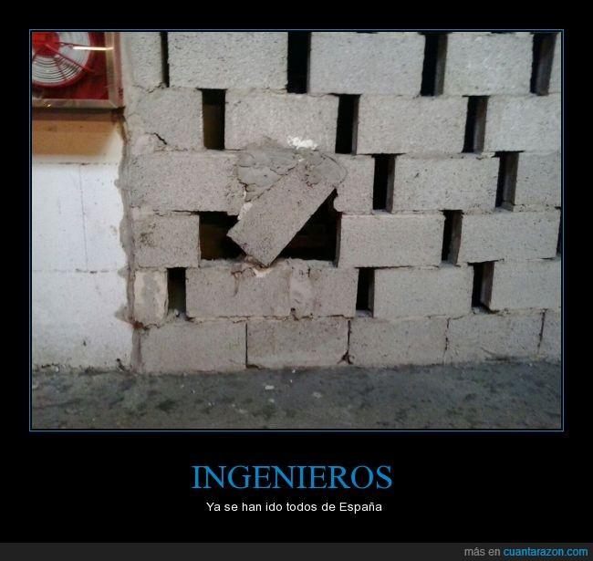 cerebro,construcción,cutre,fuga,gran canaria,ingenieros,ladrillo,pared