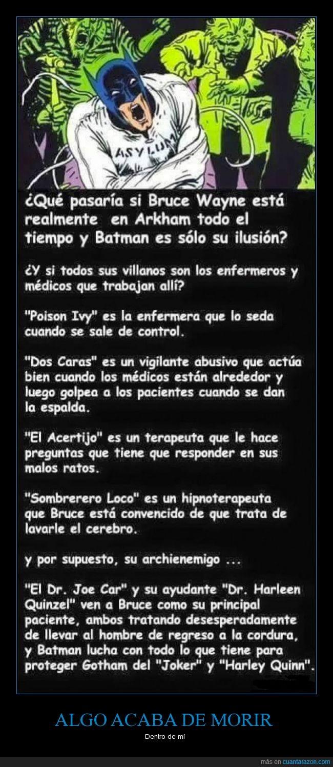 arkham,Arkham Assylum,asilo mental,batman,destruida,doctor,enfermera,Harley Quinn,infancia,Joker,loco,locura