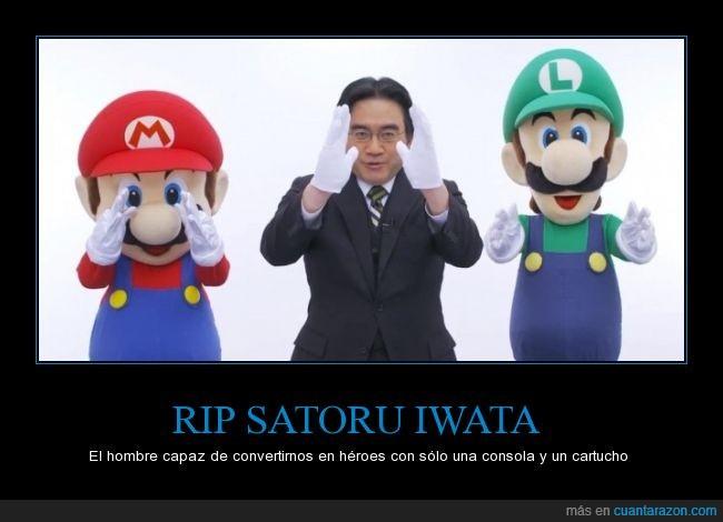Nintendo,RIP,Satoru Iwata,Super Mario,ThankYouIwata