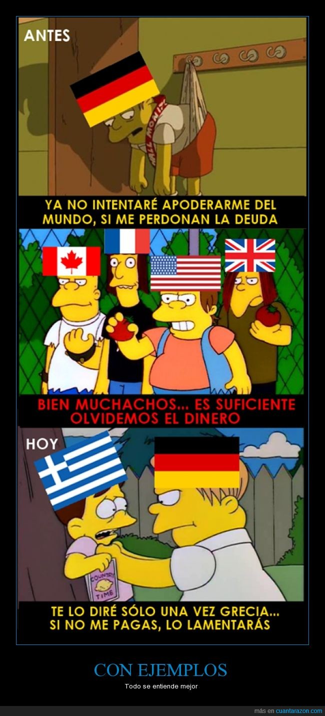 abuson,alemania,deuda,devolver,España,Grecia,ley,Martin,mundo,pagar,simpson