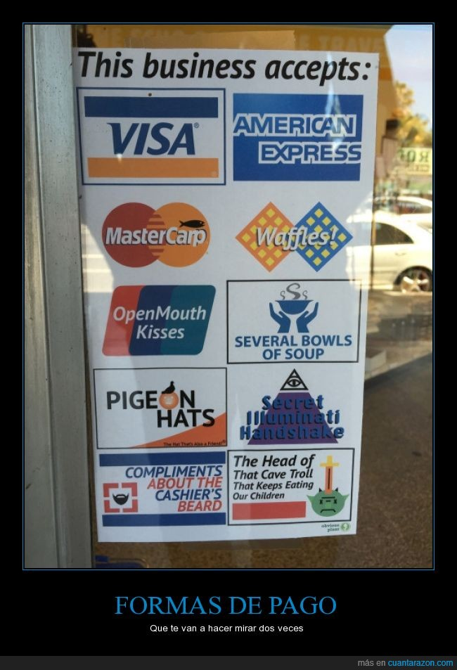burla,credito,forma,mastercard,mastercarp,pago,tarjeta,troll,visa,waffles