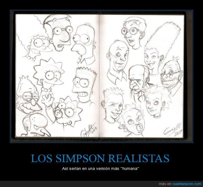 abuelo,burns,cara,homer,humano,Los Simpson,Marge,Milhouse,persona,real,realismo,realista,verdad