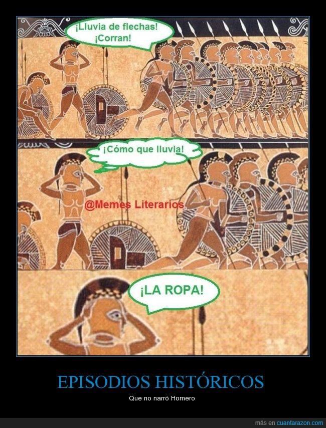 antiguo,flechas,Homero,Iliada,ilustración,jarron,lluvia,ropa,sorpresa