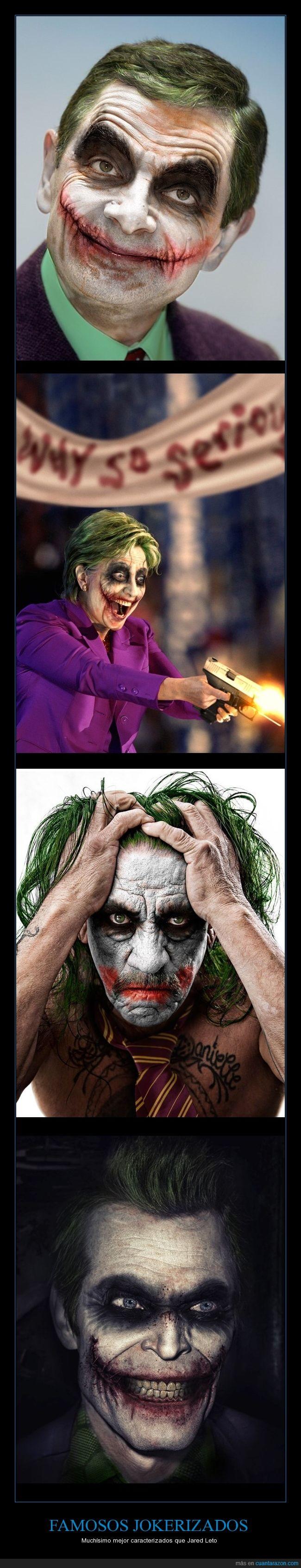 Batman,famosos,Jared Leto,Joker,maquillaje,photoshop