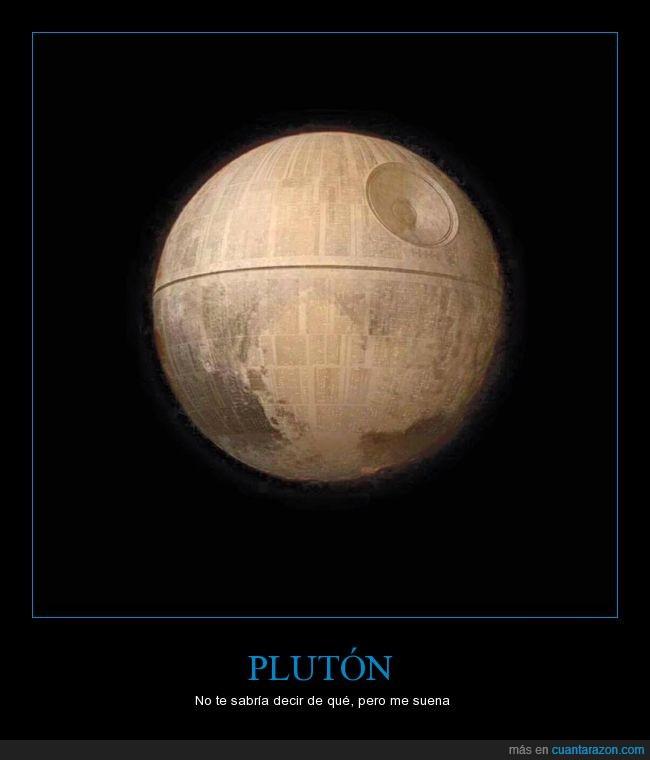 Death Star,Estrella de la Muerte,NASA,Plutón,Star Wars