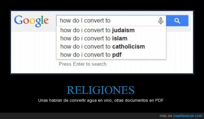 catolicismo,convertir,documento,google,humor,islam,judaismo,PDF,Religión