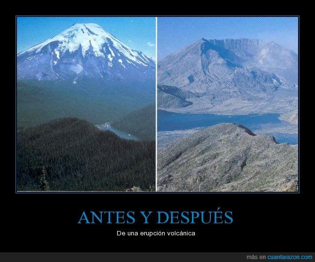 cambio,erupción,nieve,Santa Helena,Volcán