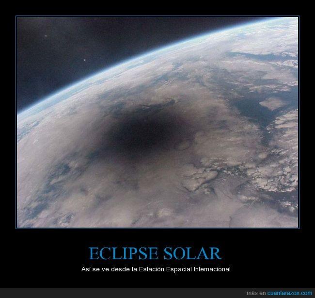 ecipse,Estación Espacial Internacional,iss,luna,sol,Tierra