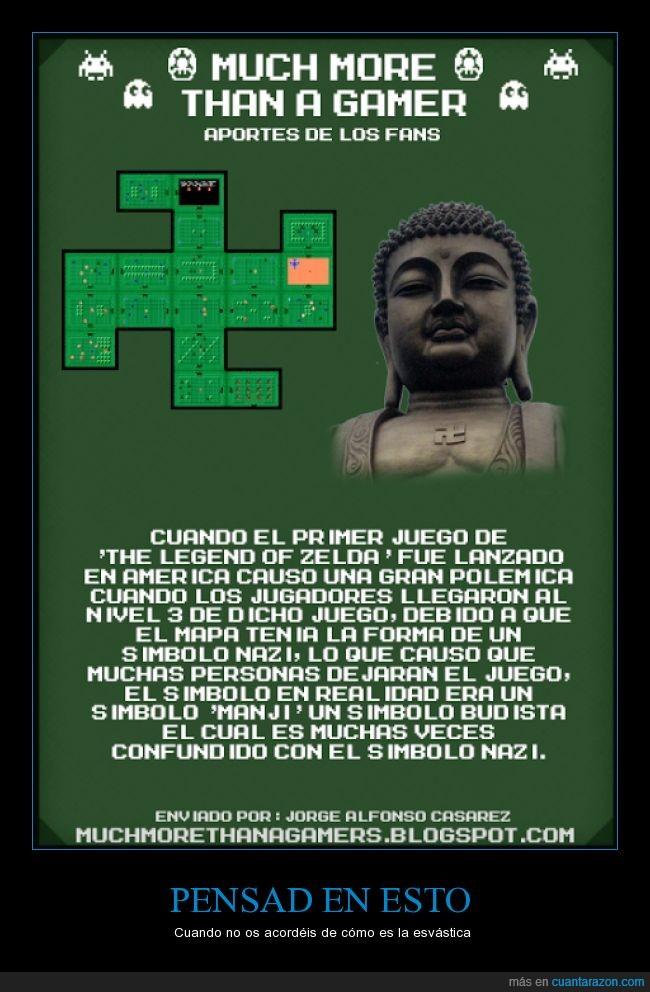 buda,budista,Esvásticas,La Leyenda de Zelda,nazi,símbolo,TLOZ