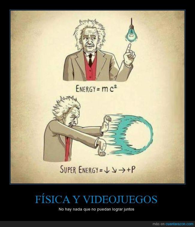 Einstein,energia,Física,formula,hadouken,truco,videojuegos