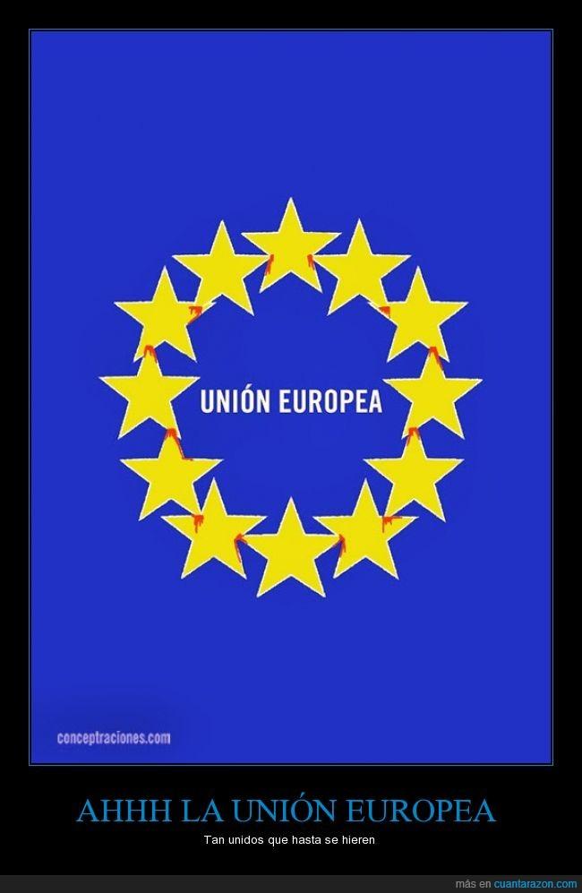 bandera,corona,dolor,estrella,marcar,sangre,Unión europea