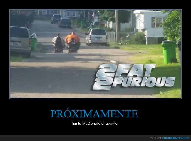 2fat 2furious,bici,camino,carretera,fat,furious,gordos,Motocicletas,motor,motorizada,obesidad,par,ruedas,silla