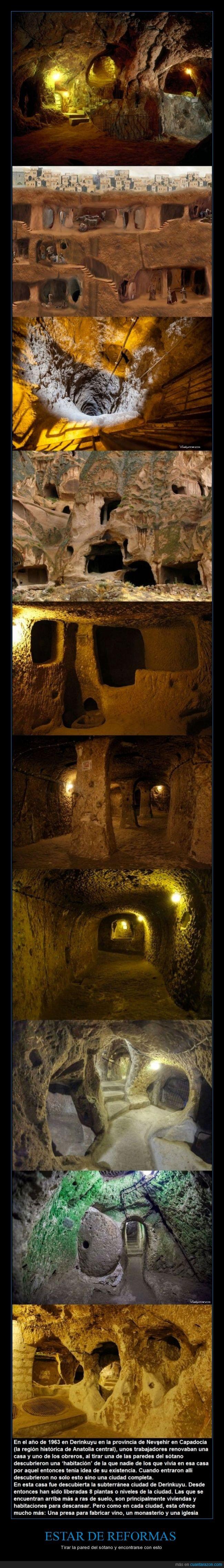 anatolia,ciudad subterránea,curiosidad,derinkuyu,habitación,pasadizo,reformas,sótano