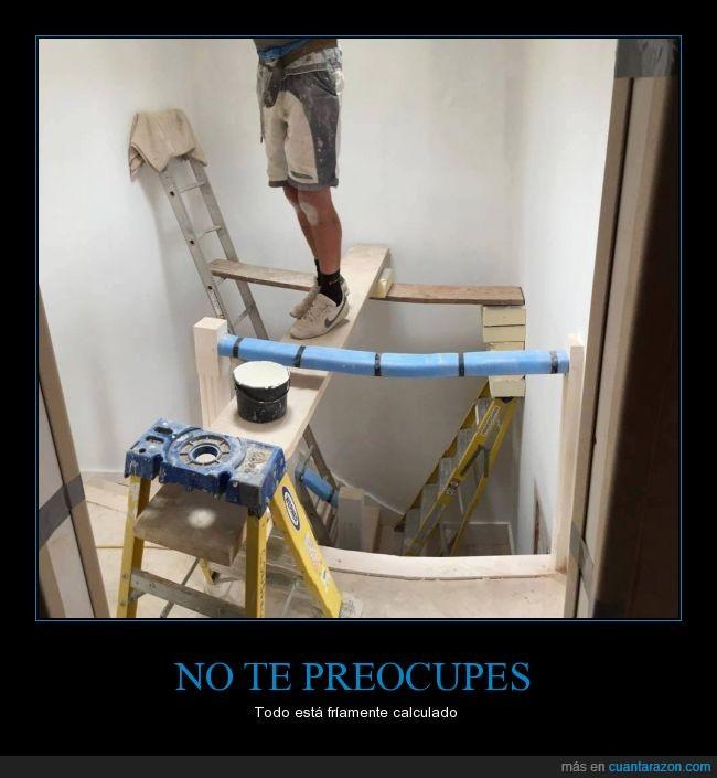 accidente,andamios,escalera,peligro,pintar,Riesgo,seguridad industrial,tablones