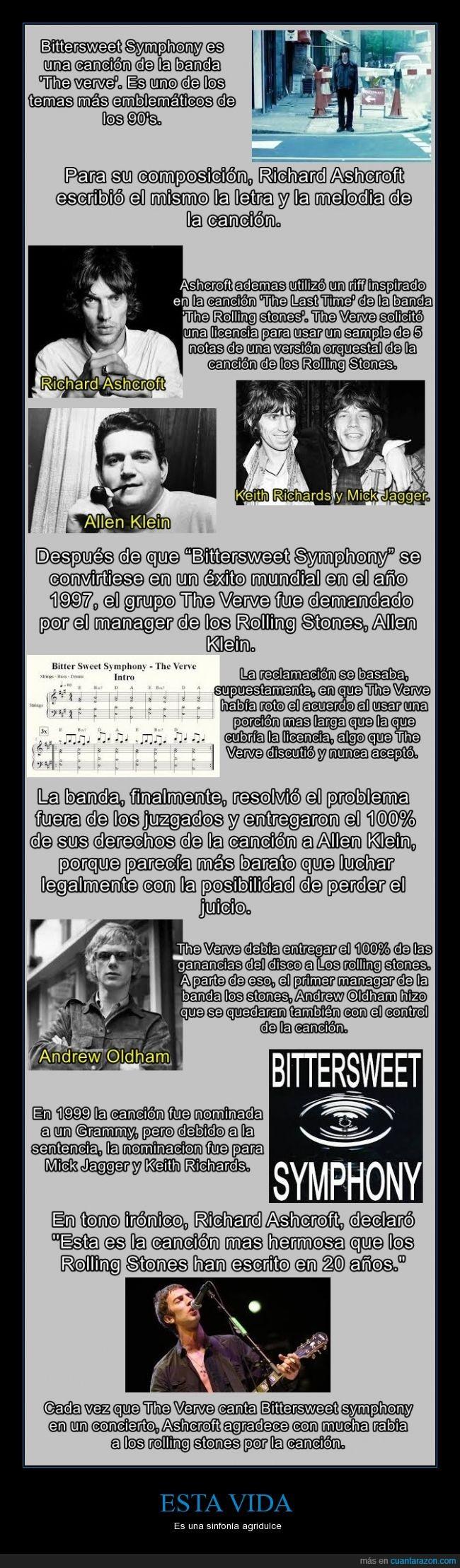 aprende algo dinero,bittersweet symphony,demanda,demandado,musica,negocio,Richard Ashcroft,riff,rolling stones,solo,the last time,the verve,violin