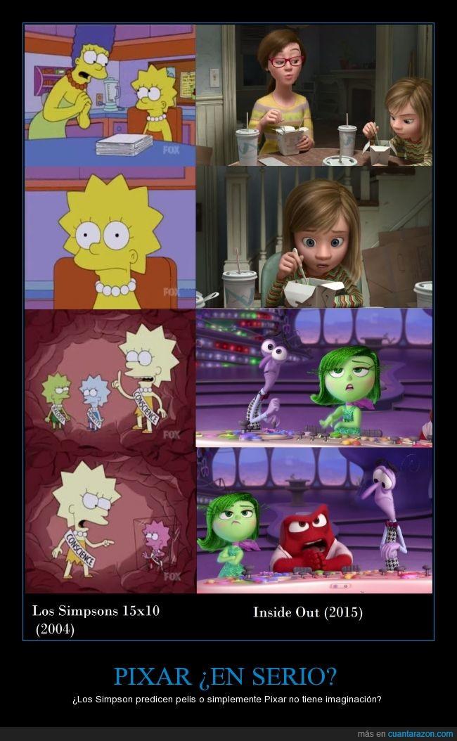 cerebro,Del Revés,emociones,Inside out,Lisa,los simpson,MArge,otra vez,pixar,sentimientos
