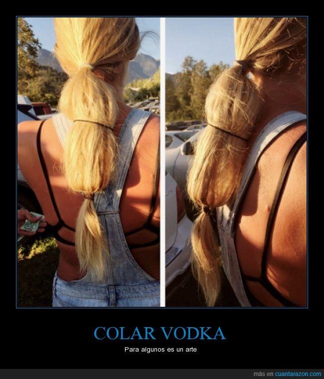 alcohol,bebida,botella,colar,coleta,pelo,vodka