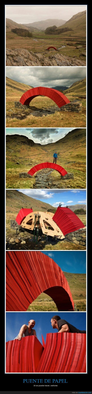 arquitectónico,camino,diseño,naturaleza,Puente de papel,rojo