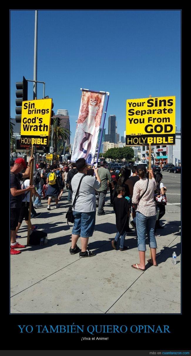 Anime,Biblia,calle,ira,manga,pecado,pecador,protesta,sabana