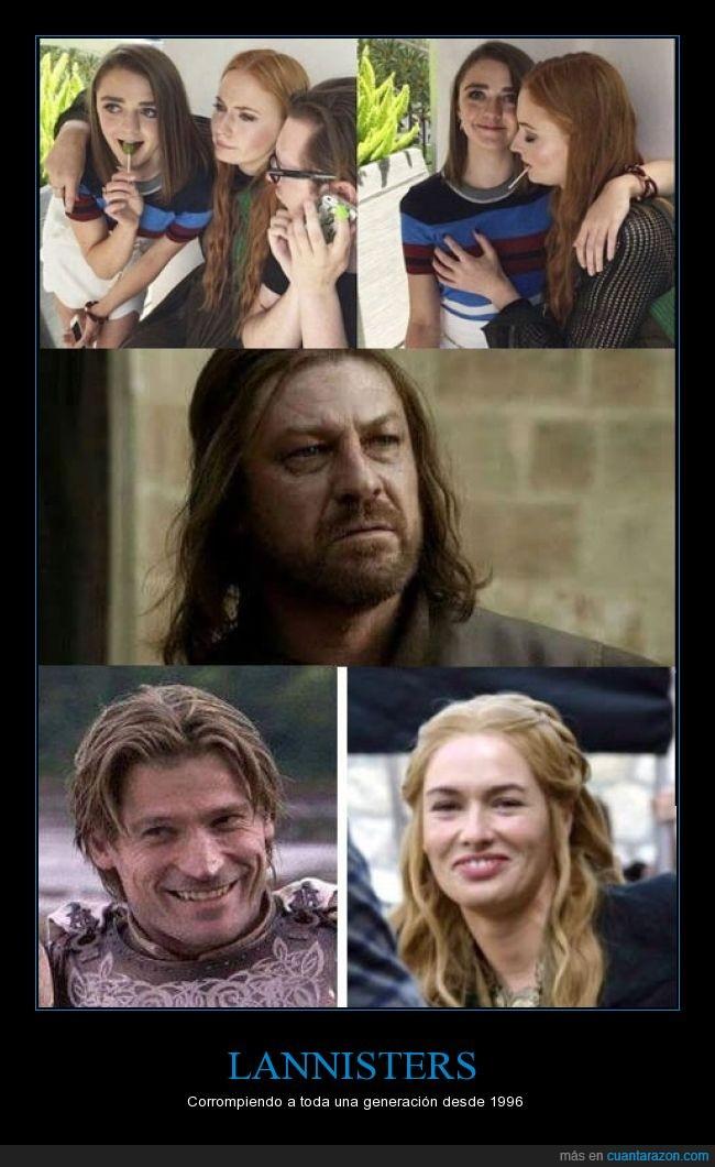Desembarco del rey,Game of Thrones,GOT,hermana,JDT,juego de tronos,lannister,maisie williams,Ned Stark,sophie turner,tocar