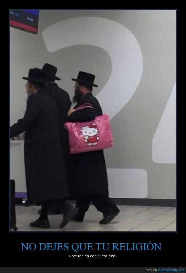 bolso,fucsia,hello kitty,judio,ortodoxo,rosa