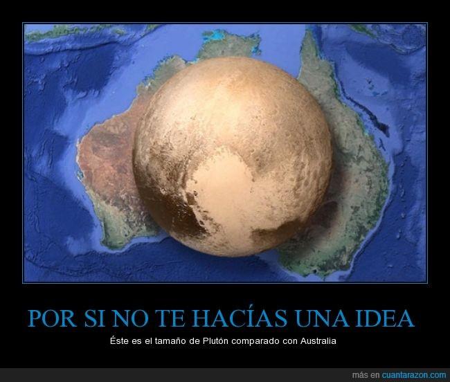 Australia,comparación,IFLScience,planeta,Plutón,tamaño