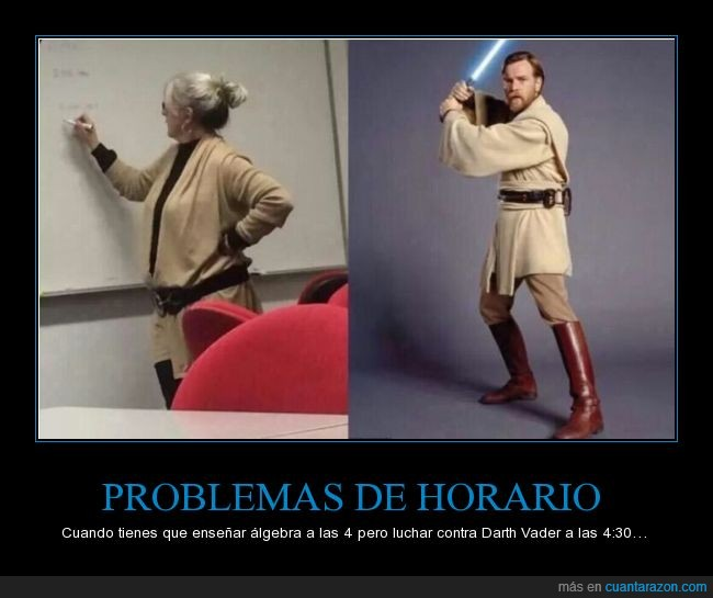 Atuendo,color,Darth Vader,igual,Obi Wan Kenobi,profesora,ropa,Star Wars,túnica,vestimenta