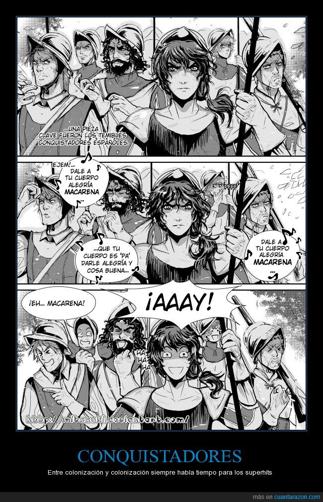 america,conquista,conquistadores,España,Macarena,manga