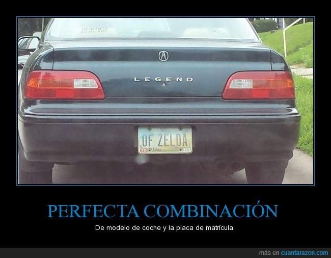 coche,legend,leyenda,marca,matricula,Zelda