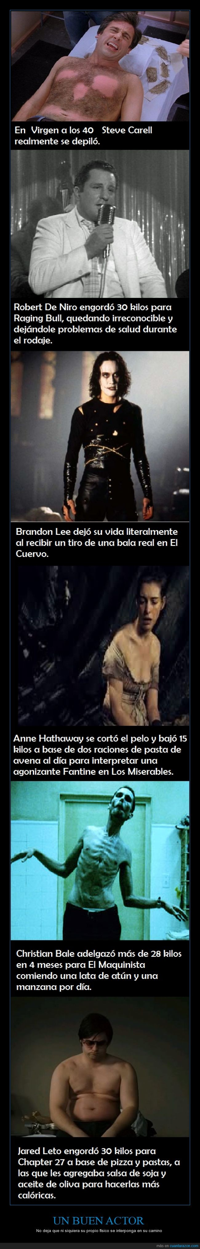 Actores,Actrices,Anne Hathaway,Brendon Lee,Christian Bale,Cuerpo,dolor,Fisico,Jared Leto,Pelicula,peso,robert deniro,Steve Carrell