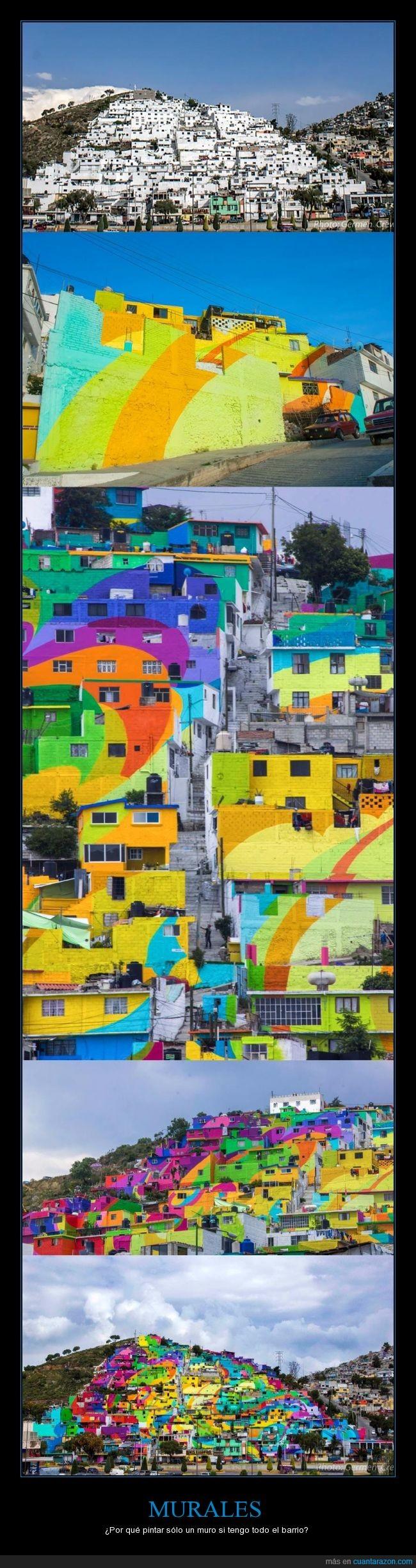 barrio,color,colorido,mexico,mural,pachuca,pintura