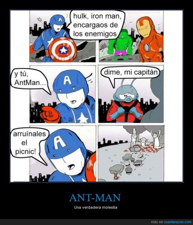 ant-man,antman,arruinar,heroe,molestar,molestia,picnic