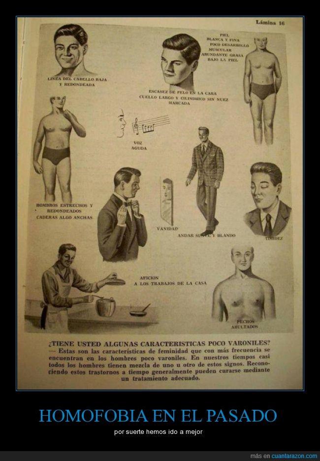caracteristica,curación,enfermedad,gay,homo,homofobia,poco,rasgo,varonil