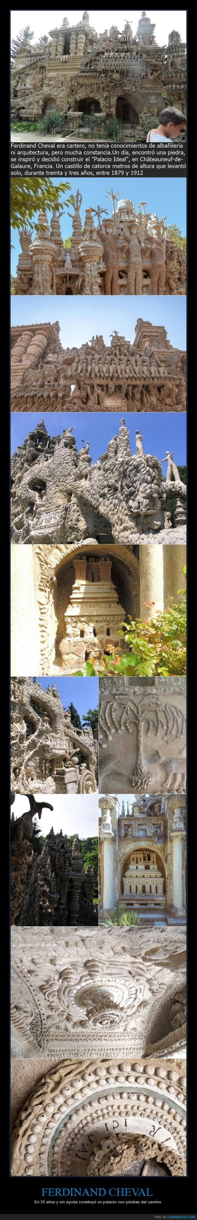 arquitecto,construcción,construir,Ferdinand Cheval,Francia,palacio