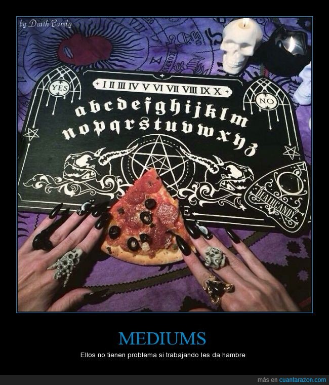 anillos,médium,Ouija,pizza,rebanada,trozo