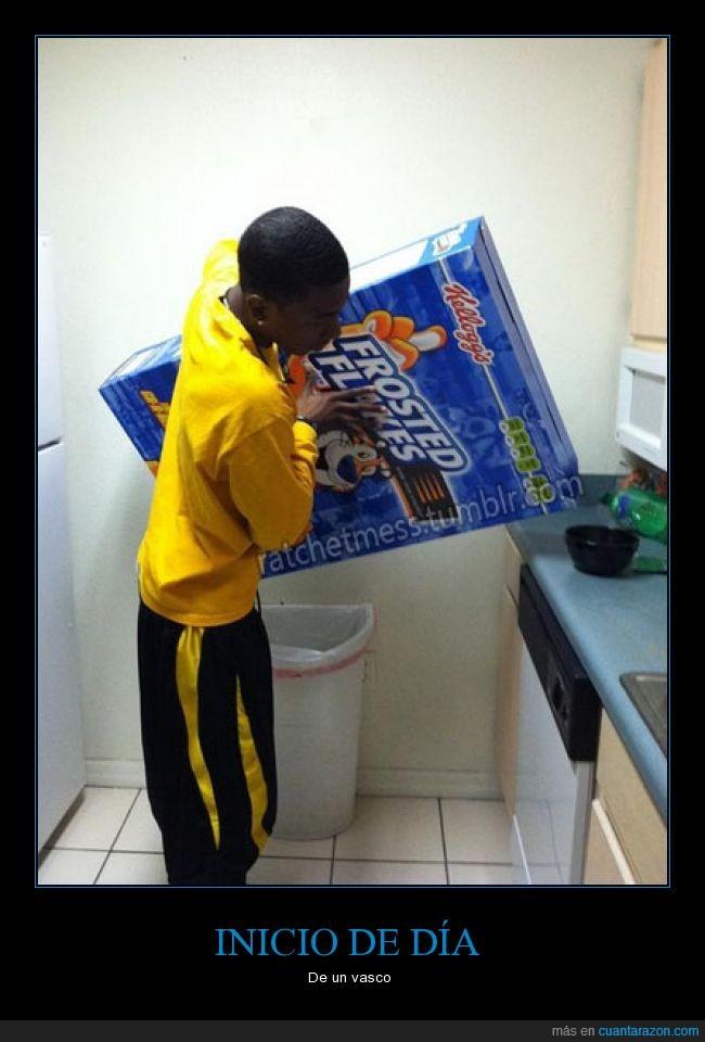 caja,cereales,día,frosties,gigante,iniciar,Vasco