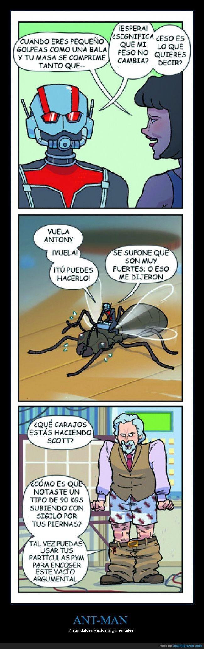 ant man,Ant-man. Marvel,antman,Cientificamente correcto,Que le den a Newton,Scott Lang