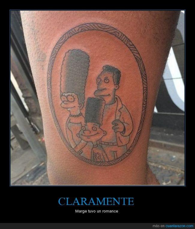 affaire,brazo,desliz,infidelidad,Marge,Simpson,tattoo,Tatuaje
