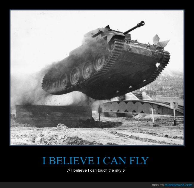 canción,fotografía,guerra,I believe I can fly,R. Kelly,rampa,tanque,volar