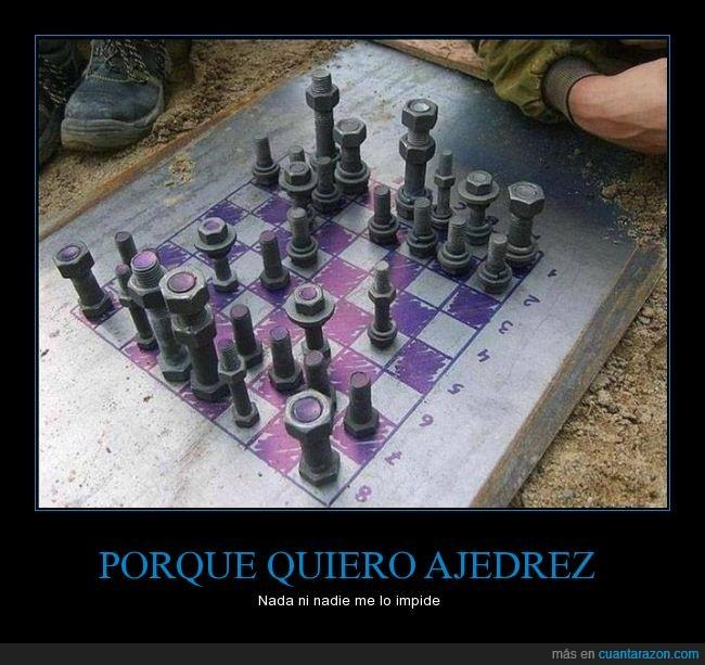ajedrez,chapa,cutre,metal,pieza,pintar,tornillo,tuerca