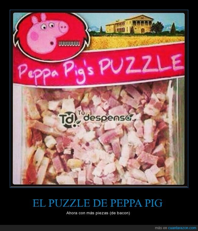 bacon,lol,peppa,pig,puzzle,tiras