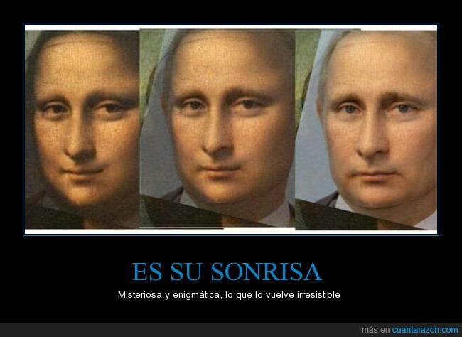 arte,Leonardo da vinci,mona lisa,sonrisa,Vladimir Putin