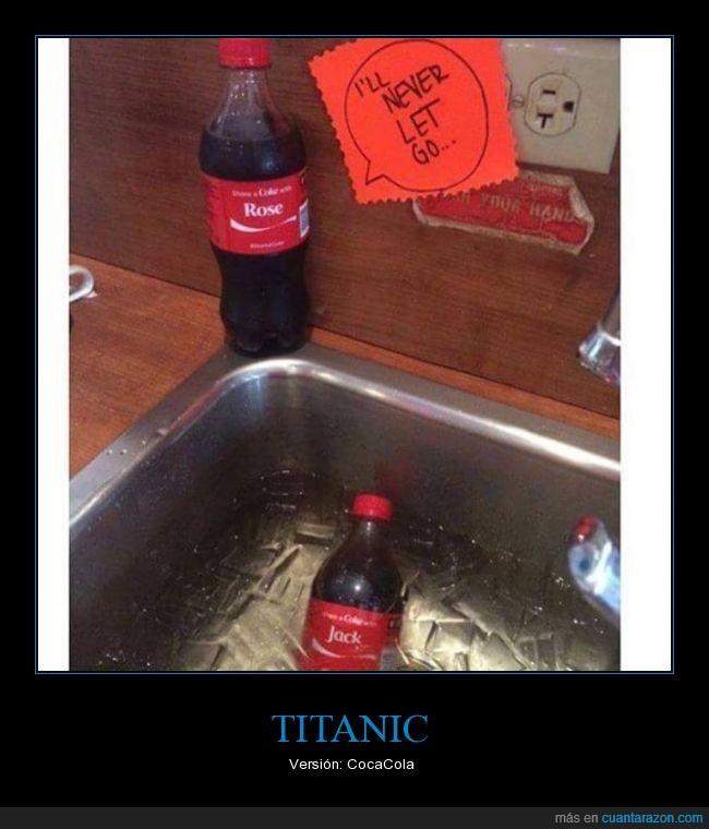 botellas,cocacolas,titanic