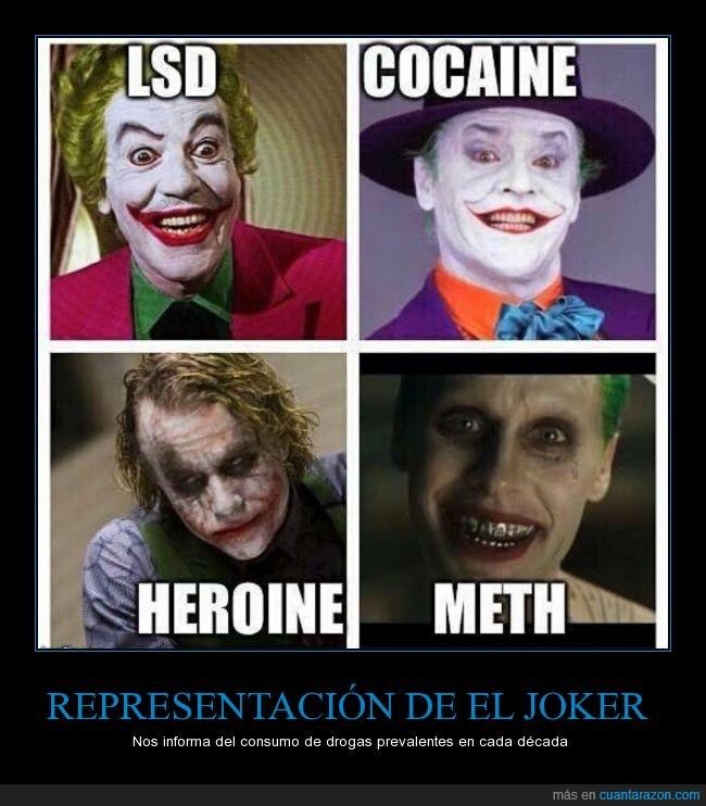 anfetaminas heroína,Drogas,Joker,lsd