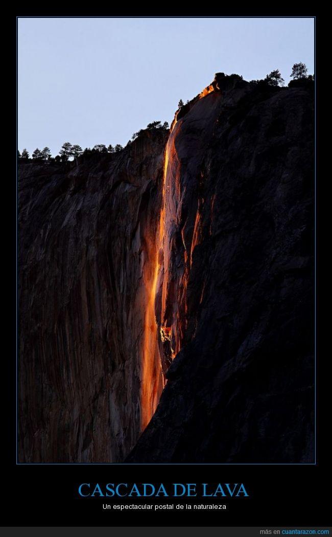 Cascada,lava,roca,volcán