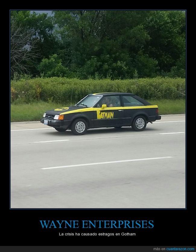 auto,batimóvil,Batman,Bruce Wayne,carretera,cosplay,Ford To paz,humor