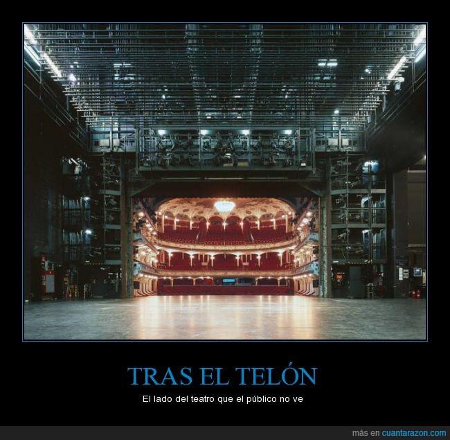 asientos,butacas,teatro,Tras bambalinas