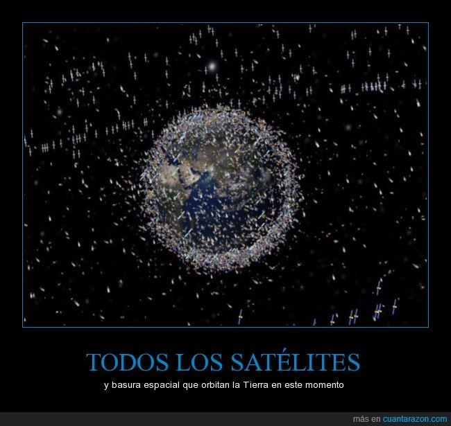 basura espacial,contaminación,mundo,Satélite,tierra